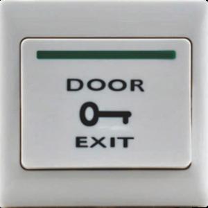 Exit Button Plastic 3x3