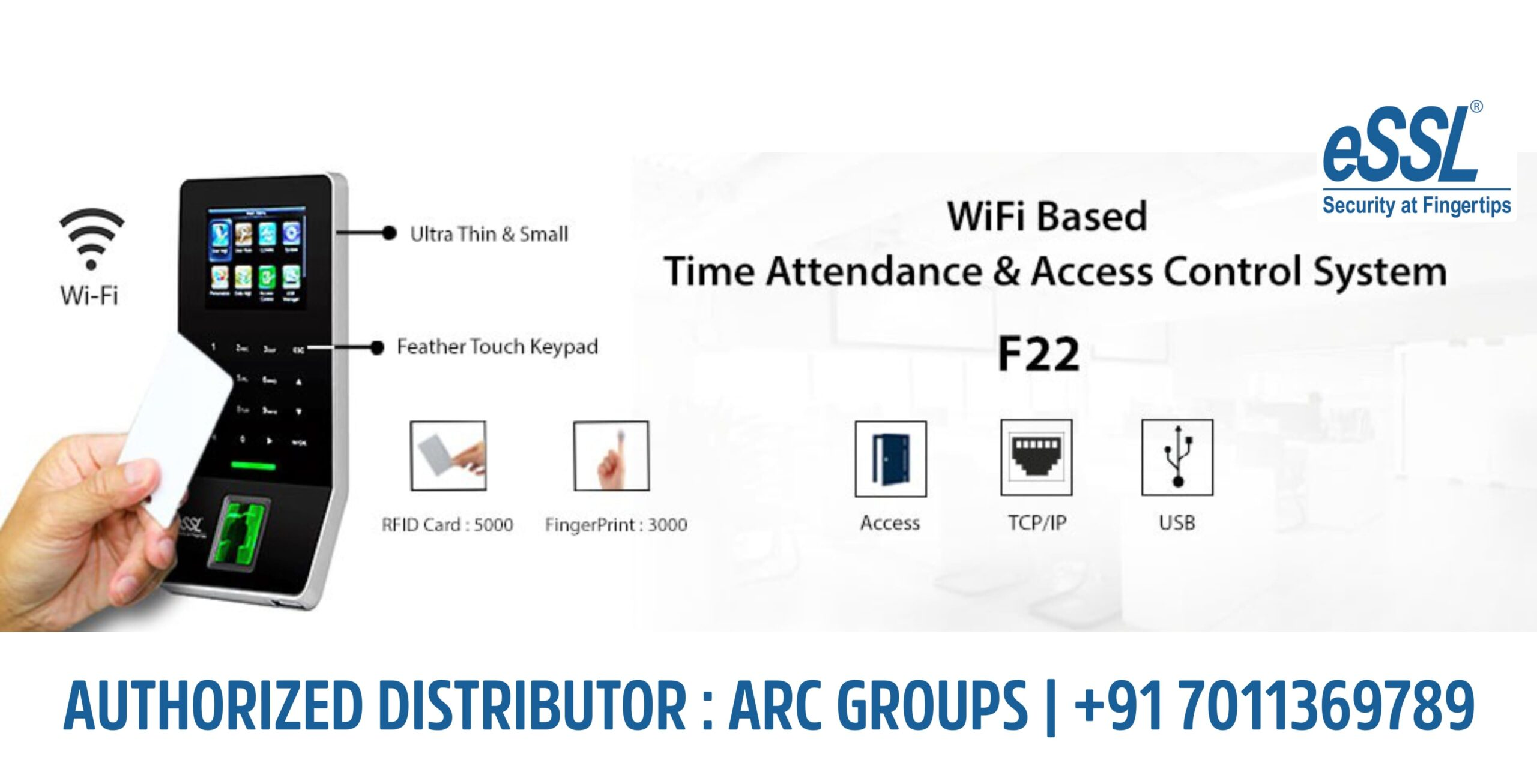 eSSL F22 Wifi based Attendance & Access System